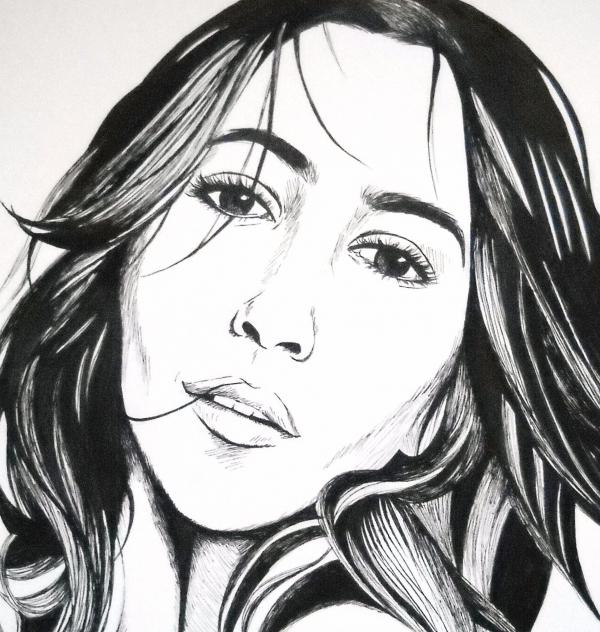 Leïla Bekhti by Moinet